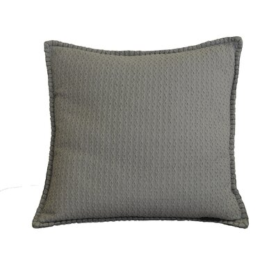 Kendrick Diamond Texture Cotton Throw Pillow Color: Opal Gray