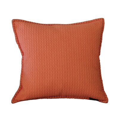 Kendrick Diamond Texture Cotton Throw Pillow Color: Emberglow