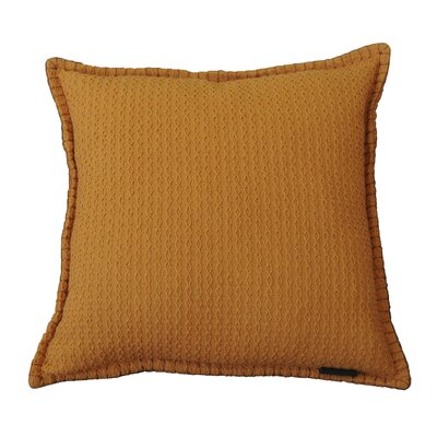 Kendrick Diamond Texture Cotton Throw Pillow Color: Topaz