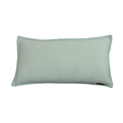 Kenilworth Diamond Texture Cotton Lumbar Pillow Color: Bay