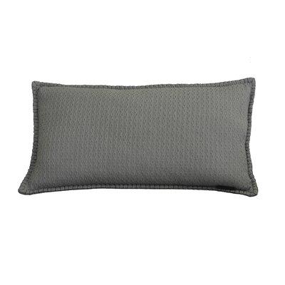 Kenilworth Diamond Texture Cotton Lumbar Pillow Color: Opal Gray