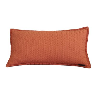 Kenilworth Diamond Texture Cotton Lumbar Pillow Color: Emberglow