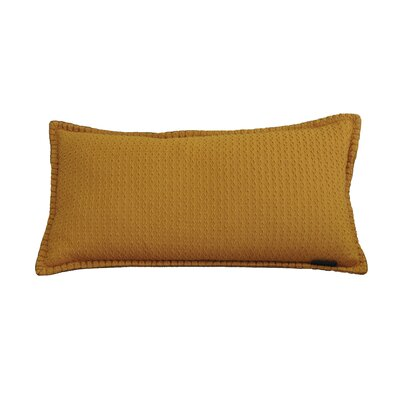 Kenilworth Diamond Texture Cotton Lumbar Pillow Color: Topaz