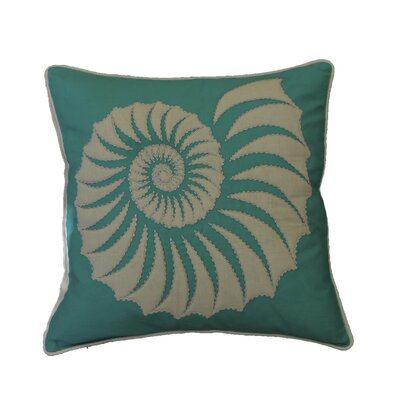 Hendrick Quilted Trochus Cotton Throw Pillow