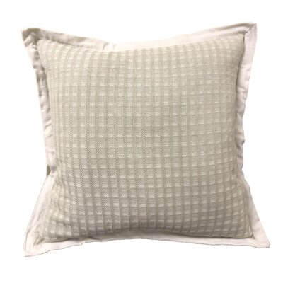 Kempsford Square Texture Cotton Throw Pillow