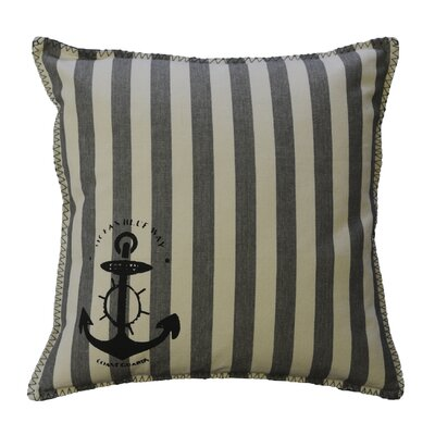 Dineen Stripe Nautical Cotton Throw Pillow