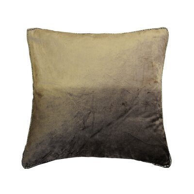 Nyquist Beads Edge Cotton Throw Pillow Color: Chocolate