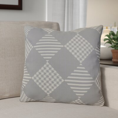 Geometric Outdoor Throw Pillow Size: 16 H x 16 W, Color: Gray