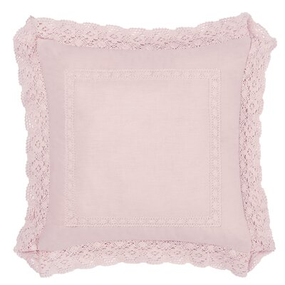 Annabella 100% Cotton Throw Pillow Size: 18 H x 18 W x 1 D, Color: Pink
