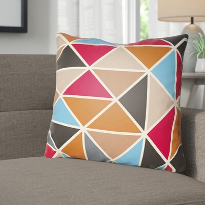 Walpole Throw Pillow Size: 22 H �x 22 W x 5 D, Color: Orange