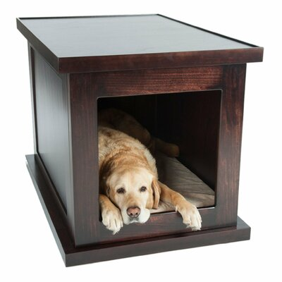 Smart Anxiety Relief Pet Crate Color: Espresso
