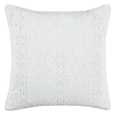 Alaina Lace Cotton Throw Pillow