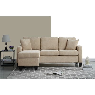 Welcher Modern Sectional Upholstery: Beige
