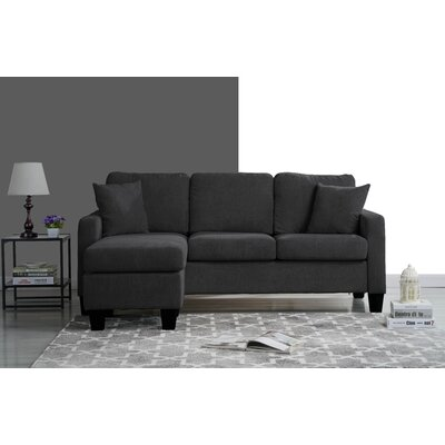 Welcher Modern Sectional Upholstery: Dark Gray