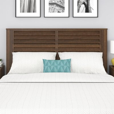 Dover Panel Headboard Color: Walnut