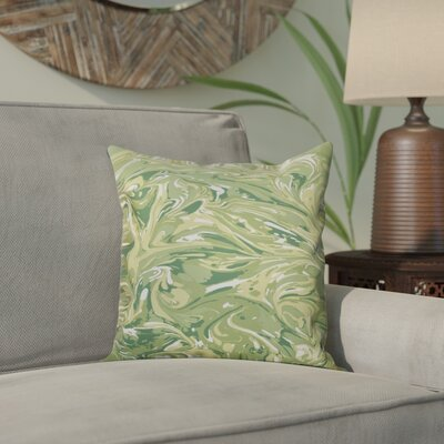Willa M�lange Geometric Print Throw Pillow Size: 26 H x 26 W, Color: Green