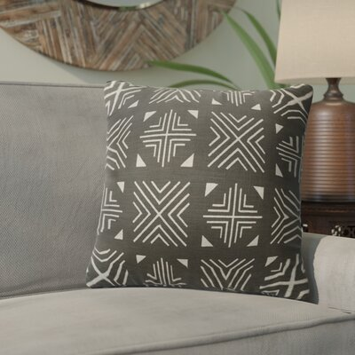 Bemelle Mud Cloth Throw Pillow Size: 24 H x 24 W, Color: Black/ Ivory