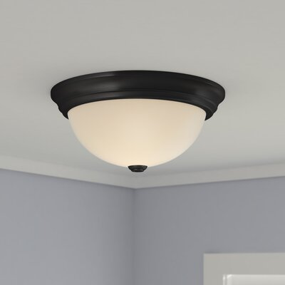 Bridwell 3-Light Flush Mount Finish: Fine Tex Black