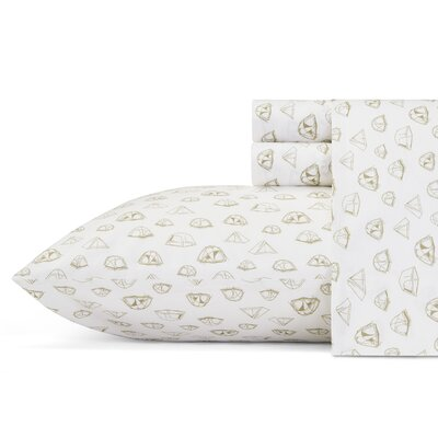 Base Camp 3 Piece 200 Thread Count 100% Cotton Sheet Set Size: Queen