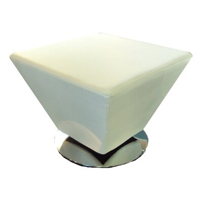 Welke Swivel Cocktail Ottoman Upholstery: White