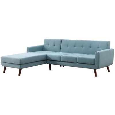 Withrow Fabric Left Arm Facing Sofa and Chaise Sectional