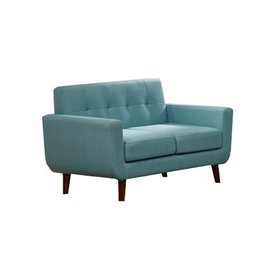 Willcox Fabric Loveseat Upholstery: Aqua