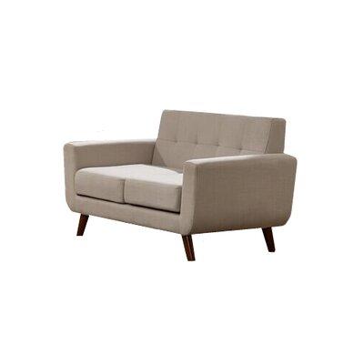 Willcox Fabric Loveseat Upholstery: Gray