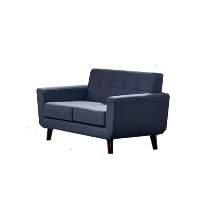 Willcox Fabric Loveseat Upholstery: Smoke