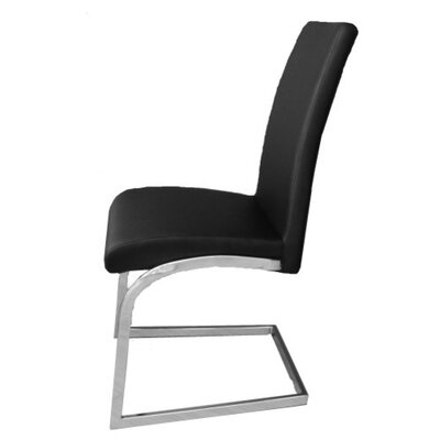 Kinsey Upholstered Dining Chair Color: Black