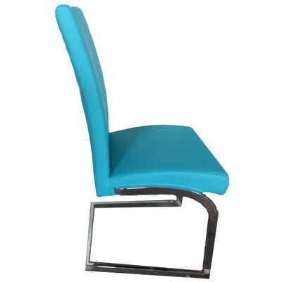 Kinsey Upholstered Dining Chair Color: Light Blue