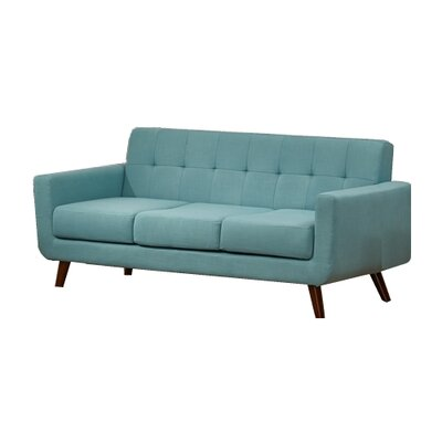 Willcox Fabric Sofa Upholstery: Aqua
