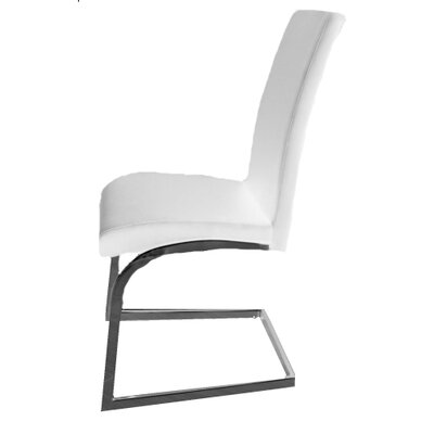 Kinsey Upholstered Dining Chair Color: White