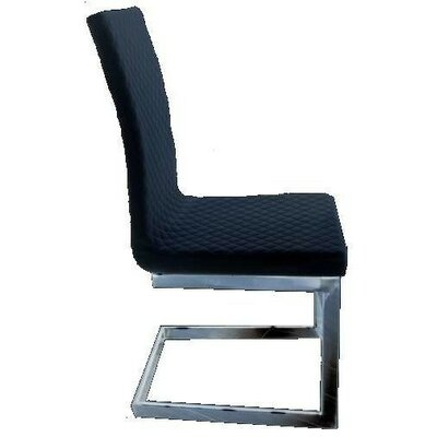 Knudsen Upholstered Dining Chair Color: Black