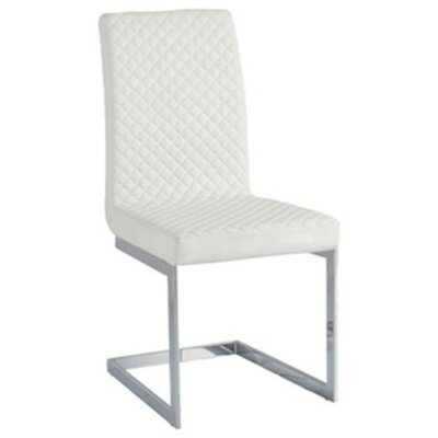 Knudsen Upholstered Dining Chair (Set of 4) Color: White