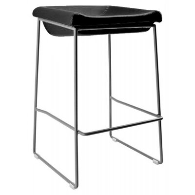 Goussainville 28 Bar Stool Upholstery: Black