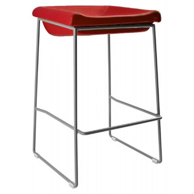 Goussainville 30 Bar Stool Upholstery: Red