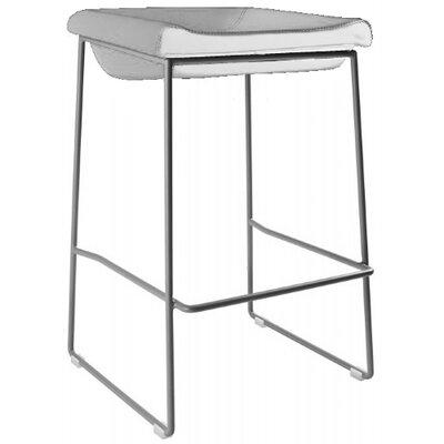 Goussainville 28 Bar Stool Upholstery: White