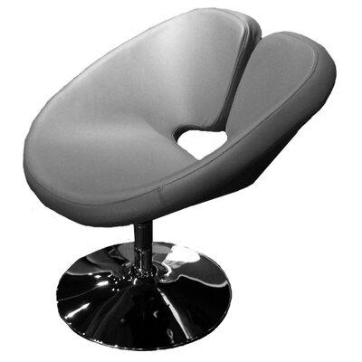Ingle Occasional Swivel Papasan Chair Upholstery: Gray