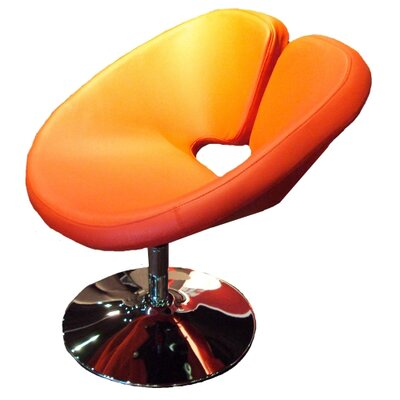 Ingle Occasional Swivel Papasan Chair Upholstery: Orange