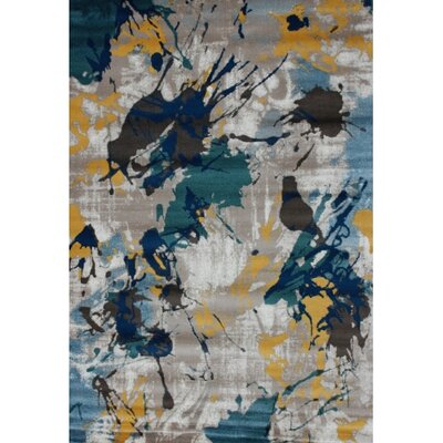 Grandin Contemporary Gray/Teal Area Rug