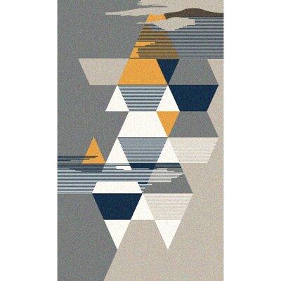 Granite Range Contemporary Gray/Yellow Area Rug Rug Size: Rectangle 65 x 95