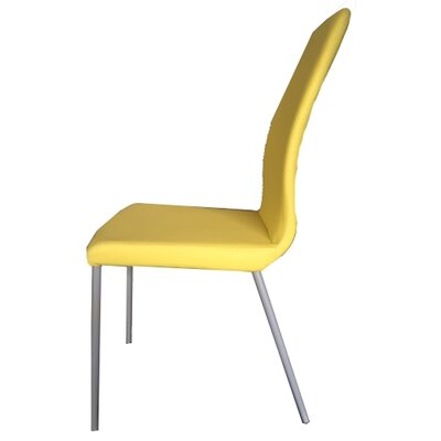 Kirtland Upholstered Dining Chair Upholstery Color: Yellow