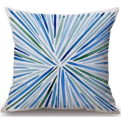 Gerow Burst Linen Throw Pillow