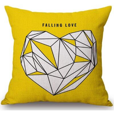 Gerrish Heart Linen Throw Pillow (Set of 2)