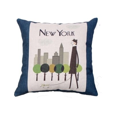 Kissel New York Linen Throw Pillow