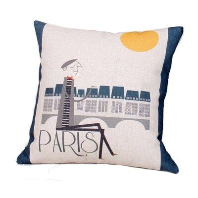 Kissena Paris Linen Throw Pillow