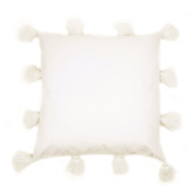 Freetown Fluffy Tassel Euro Cotton Throw Pillow Color: Ivory