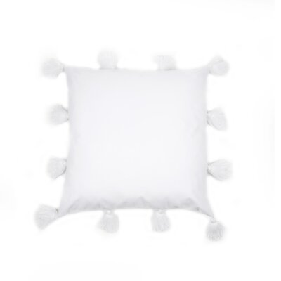 Freetown Fluffy Tassel Euro Cotton Throw Pillow Color: White