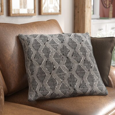 Cooke 100% Cotton Throw Pillow Color: Black, Fill Material: Down Fill