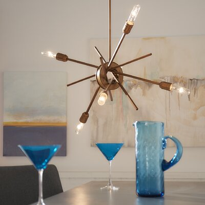 Byler 6-Light Metal Sputnik Chandelier Size: 15 H x 22 W x 18 D
